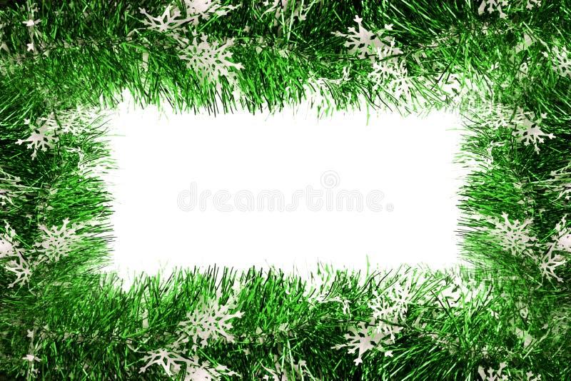 Fotofeld gebildet mit Weihnachtsrotfarbband stockfotos