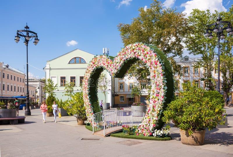 Fotofläck nära Novokuznetskaya tunnelbanastation i Moskva arkivbild