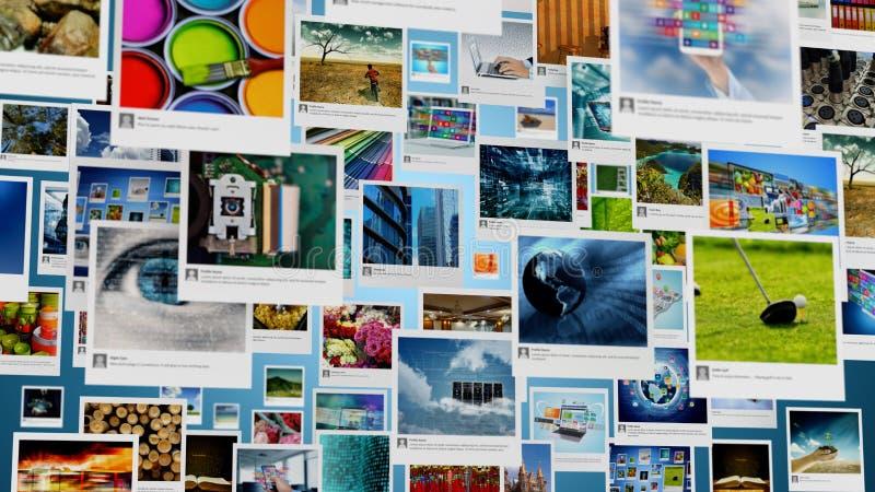 Fotogalerie en multimedia die Concept delen stock afbeelding