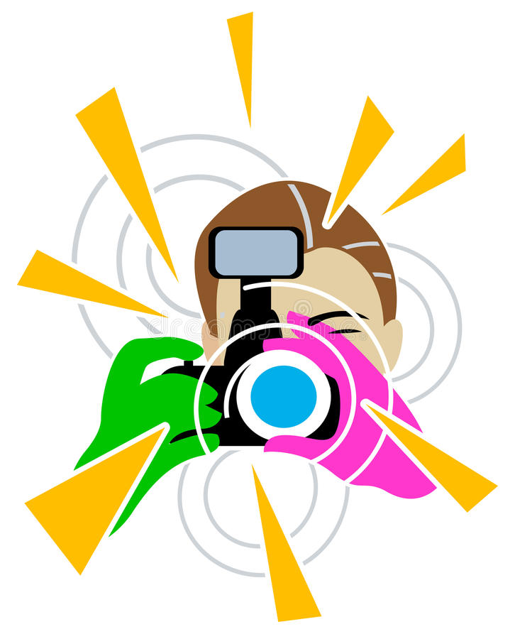 Fotograaf royalty-vrije illustratie