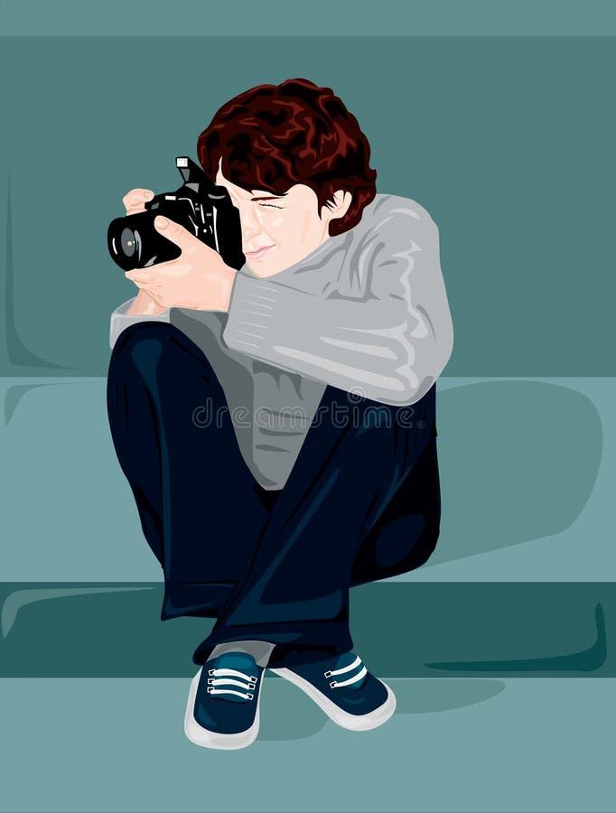 Fotograaf stock illustratie