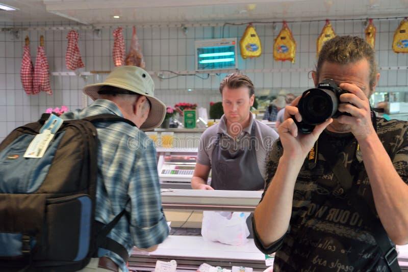 Fotograaf aan het werk voor dreamstime stock foto's