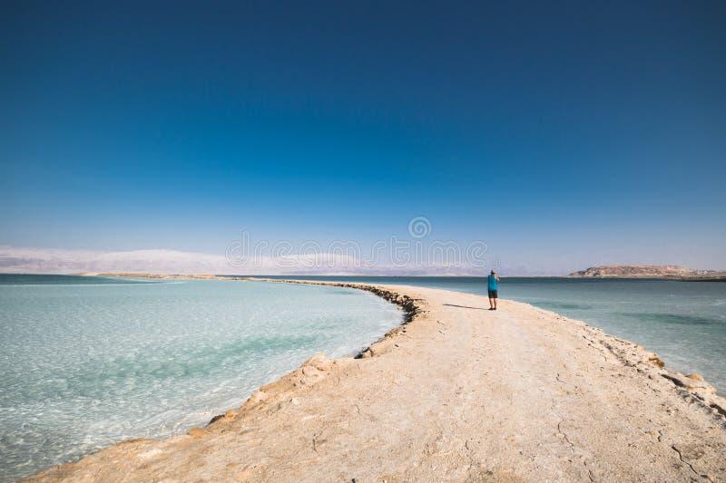 Fotograaf Dead Sea Israel stock fotografie