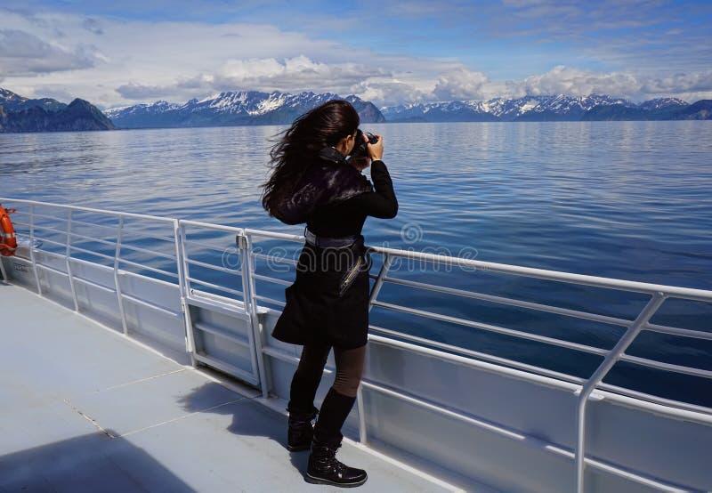 Fotograaf die exit glaciers vangt royalty-vrije stock fotografie