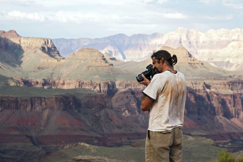 Fotograaf Die Grote Canion Ontspruit Royalty-vrije Stock Foto