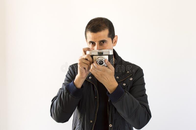 Fotograaf het kijken stock foto