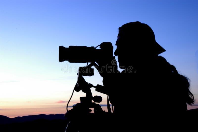 Fotograaf op het werk stock afbeeldingen