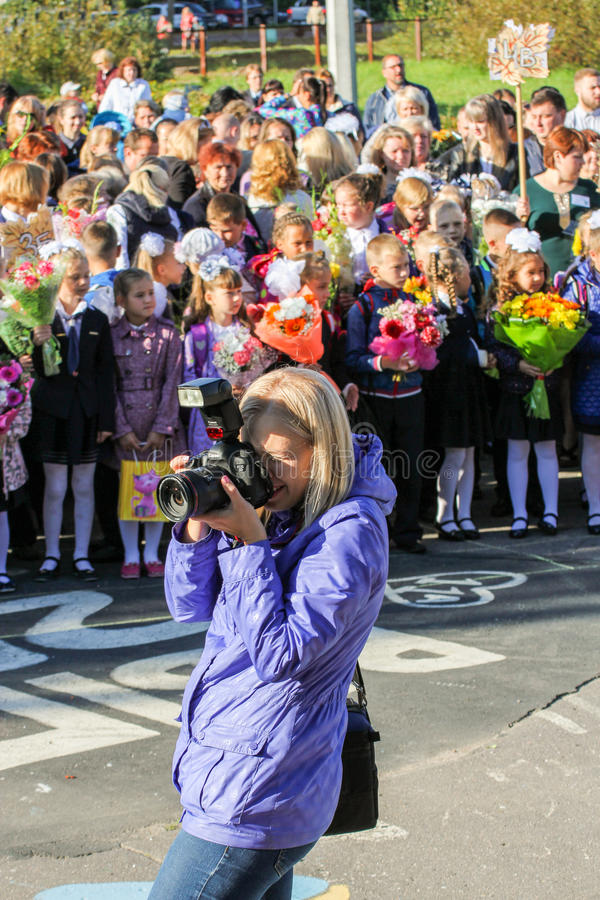 Fotograaf op het werk royalty-vrije stock foto