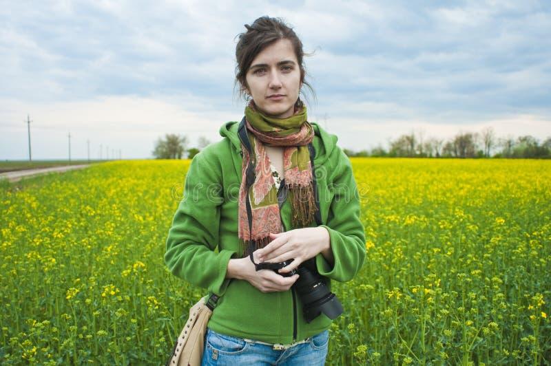 Fotograaf in platteland stock foto's