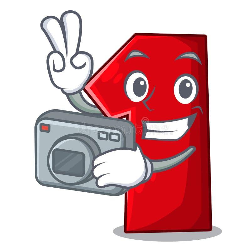 Fotograafbeeldverhaal het aantal voor kampioen stock illustratie