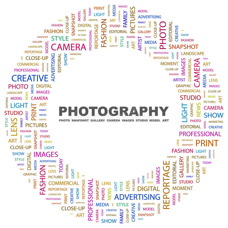 FOTOGRAFÍA ilustración del vector