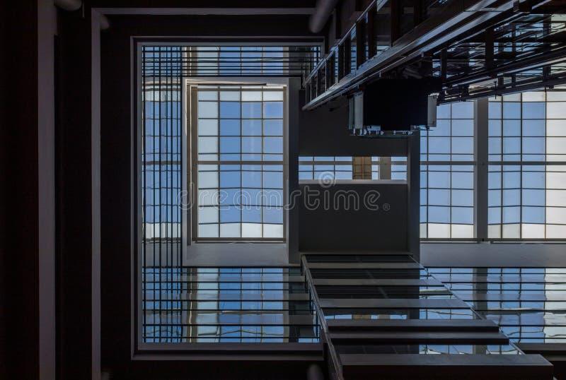 Fotografía abstracta arquitectónica de la geometría fotos de archivo libres de regalías