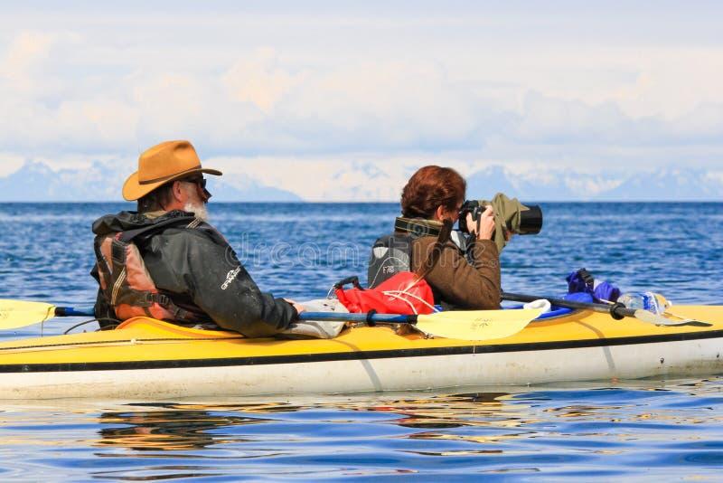 Fotografía Alaska del kajak fotos de archivo