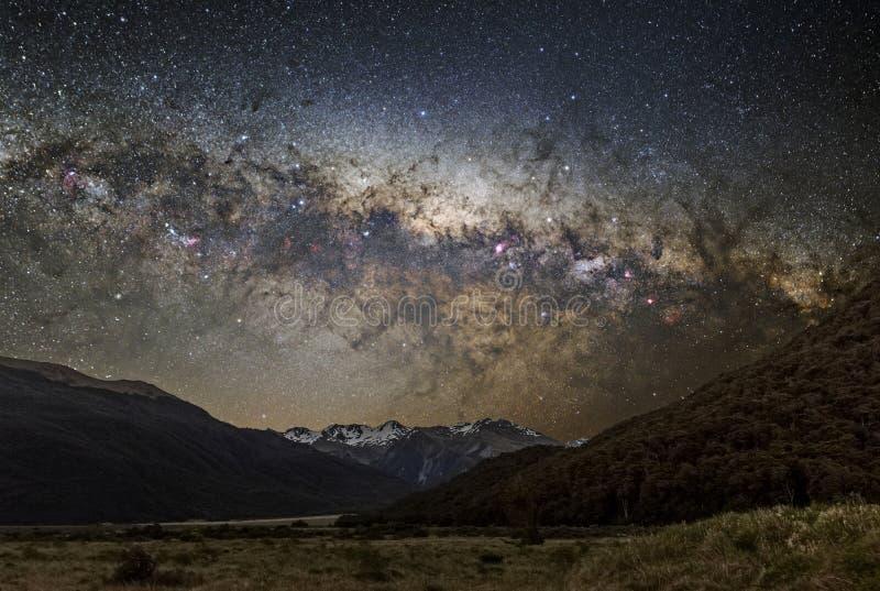 Fotografía astronómica de la vía láctea foto de archivo libre de regalías