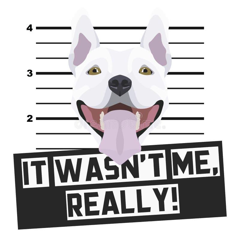Fotograf?a de detenido Terrier del Mugshot stock de ilustración