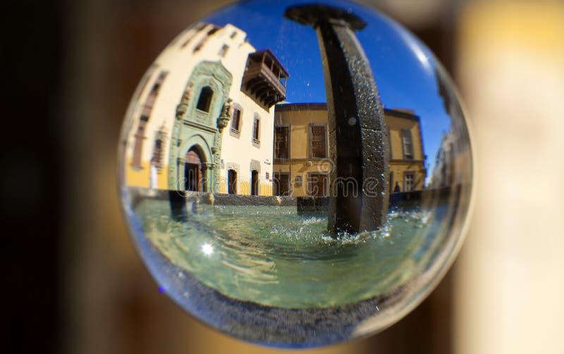 Fotografía de la bola de cristal foto de archivo