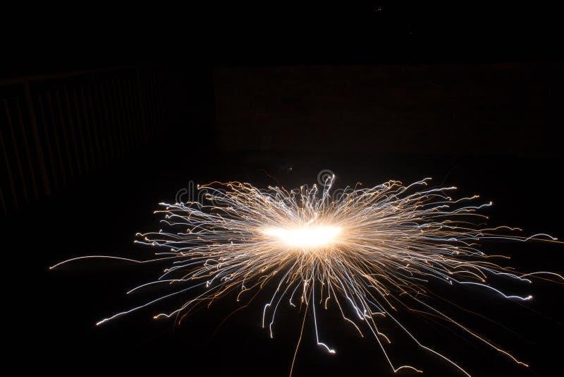 Fotografía de la esfera de los fuegos artificiales foto de archivo libre de regalías