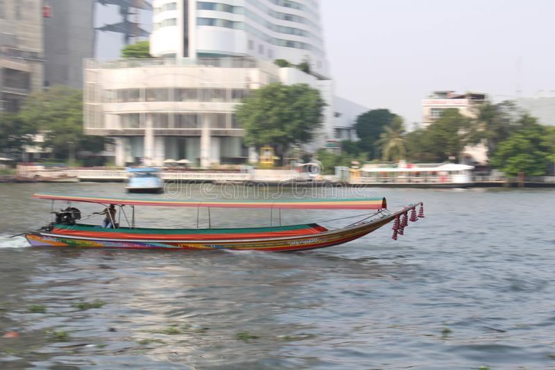Fotografía de la toma panorámica del barco imagenes de archivo