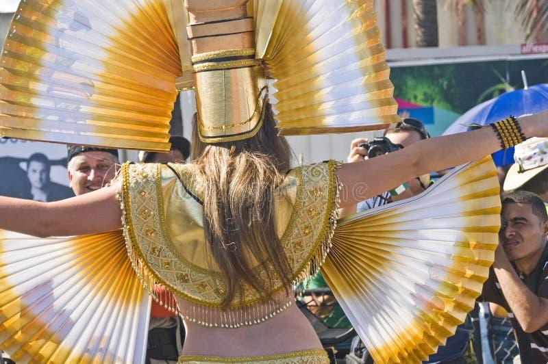 Fotografía de un modelo en carnaval imagenes de archivo