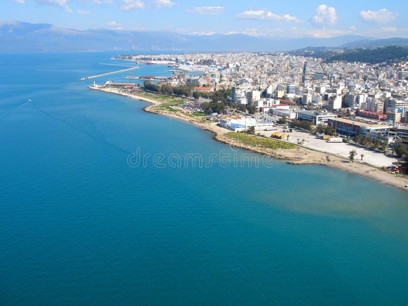Fotografía del aire, Patras, Grecia foto de archivo libre de regalías