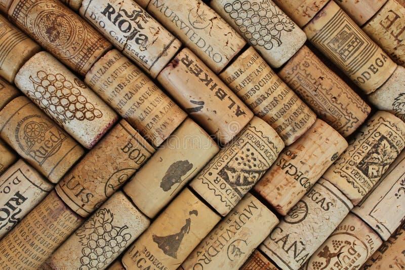 Fotografía del modelo de los corchos del vino imagenes de archivo