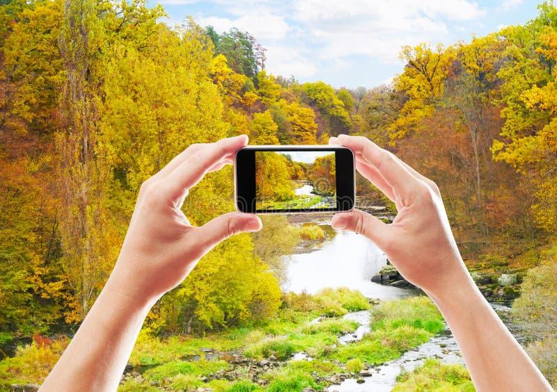 Fotografía del paisaje del otoño foto de archivo