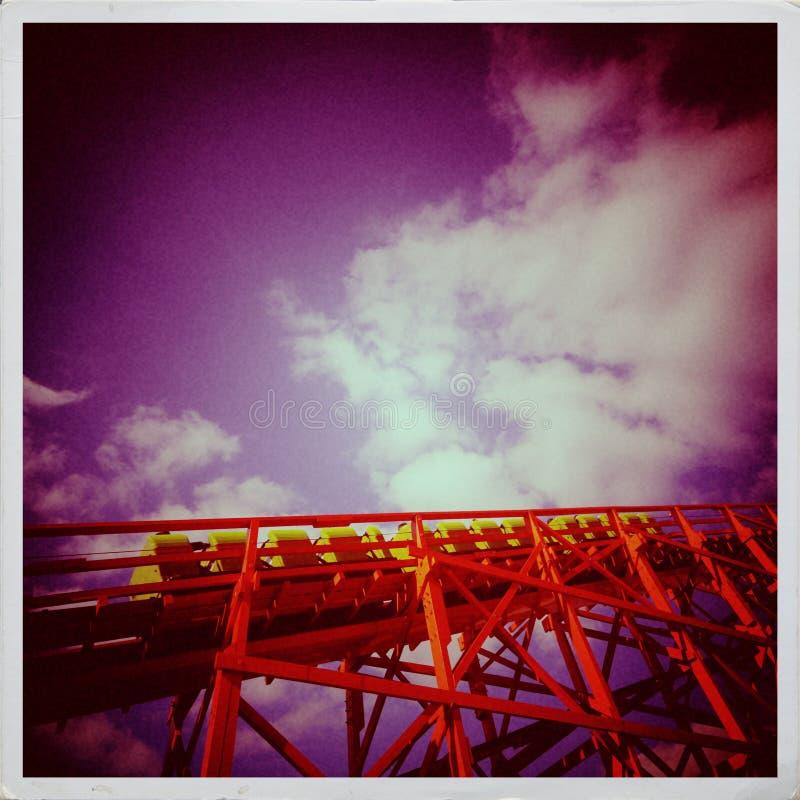 Fotografía del vintage de la montaña rusa fotografía de archivo libre de regalías