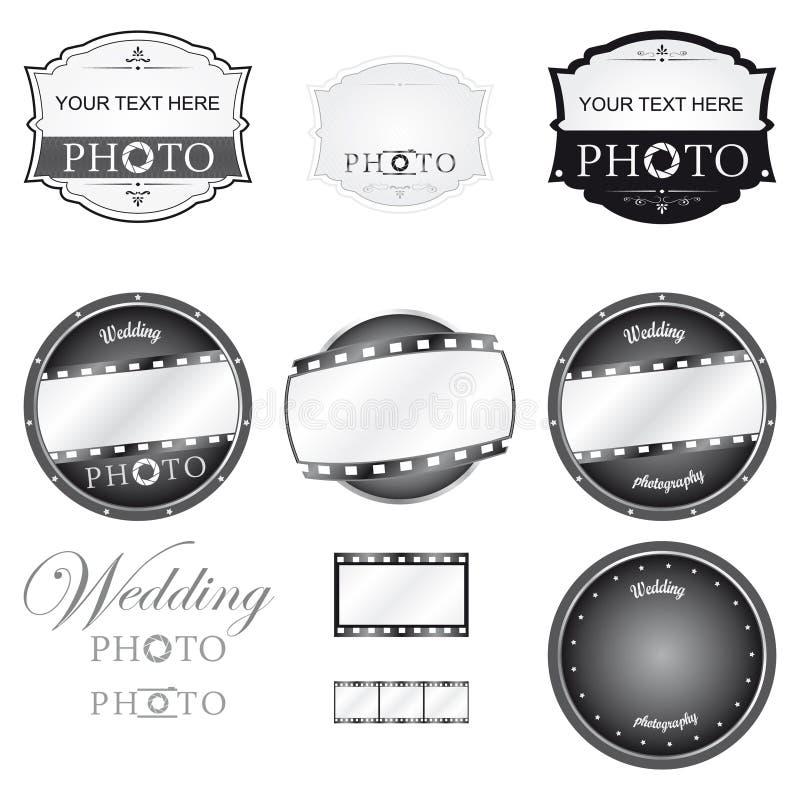 Fotografía Logo Set Vector stock de ilustración