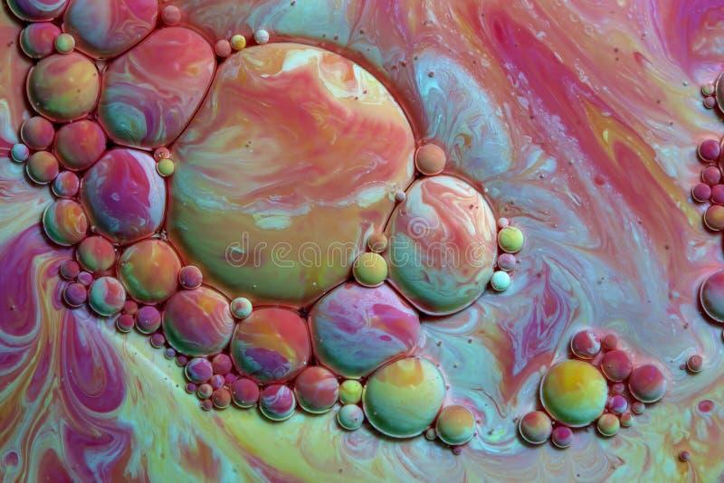 Fotografía macra de burbujas coloridas XXV imagenes de archivo