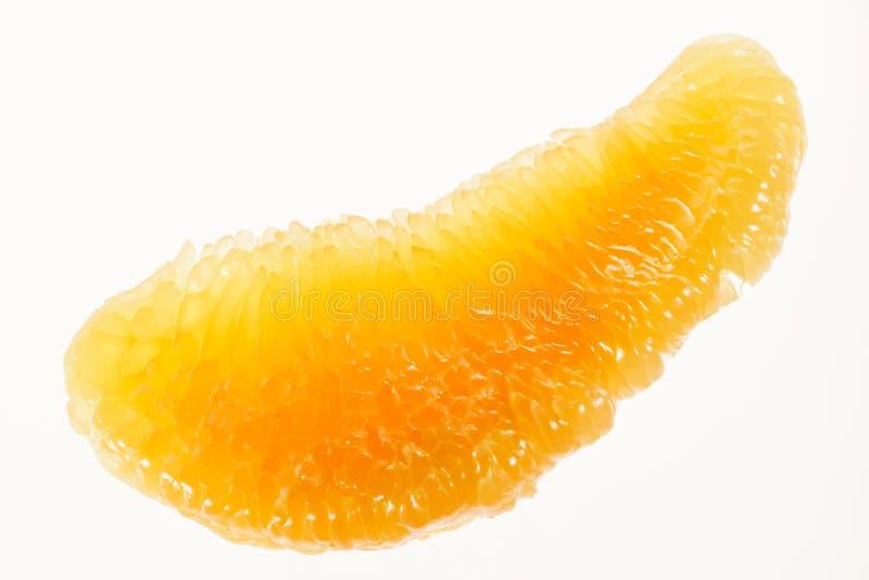 Fotografía macra de la fruta del pomelo imagen de archivo
