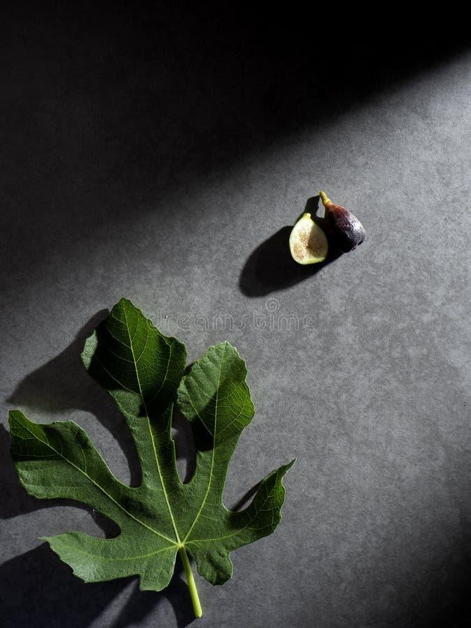 Fotografía oscura de la comida fresca de los higos fotografía de archivo libre de regalías