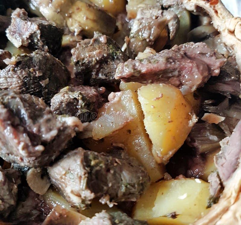 Fotografías de los platos italianos tradicionales de la carne imagen de archivo
