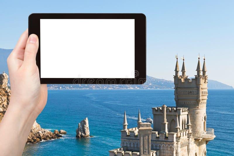 Fotografías turísticas del castillo Crimea de la jerarquía del trago imágenes de archivo libres de regalías