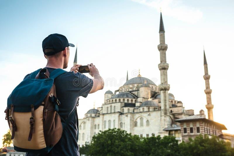 Fotografías turísticas la mezquita azul en Estambul en Turquía imágenes de archivo libres de regalías