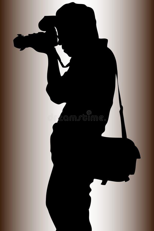 fotograf royaltyfri illustrationer