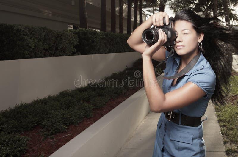 Fotograf in der Tätigkeit lizenzfreies stockfoto