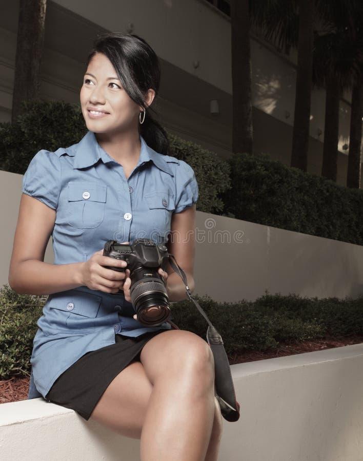 Fotograf in der Tätigkeit stockfotos