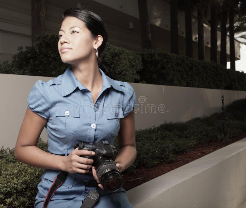 Fotograf in der Tätigkeit lizenzfreie stockfotos