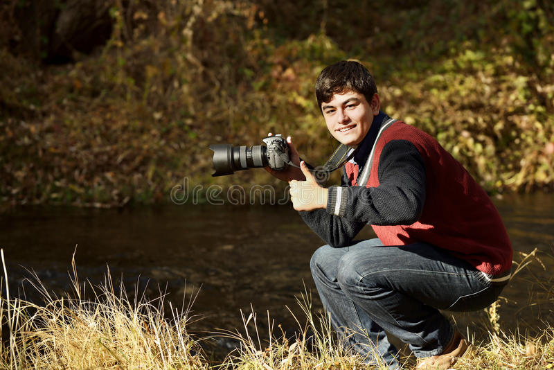 Fotograf in Ihlara-Tal lizenzfreies stockbild