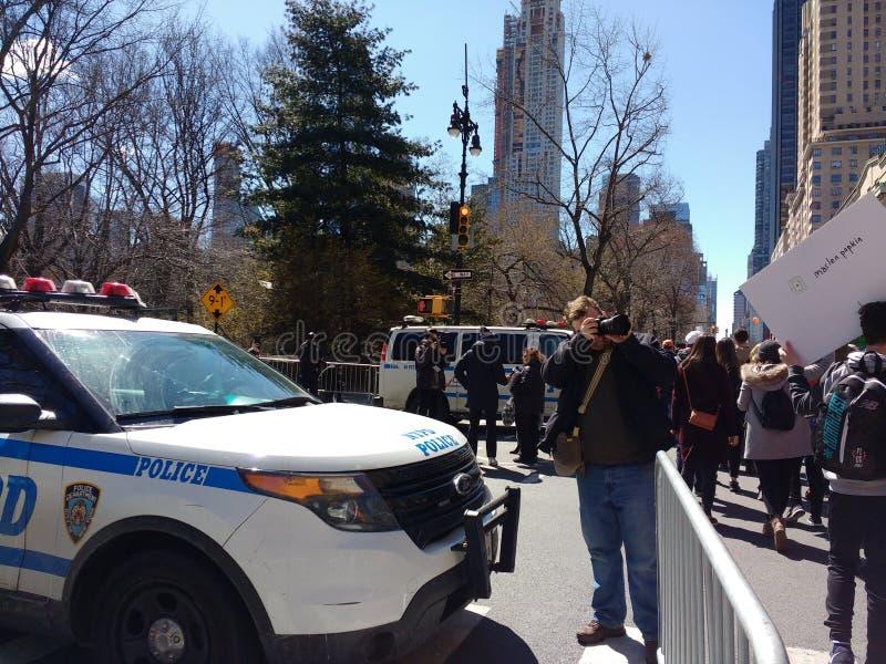 Fotograf, Marzec dla Nasz żyć, protest, środki, NYC, NY, usa zdjęcie royalty free