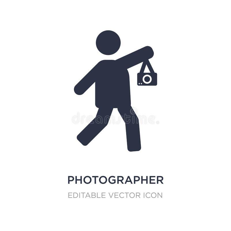 fotograf pracująca ikona na białym tle Prosta element ilustracja od ludzi pojęć ilustracja wektor