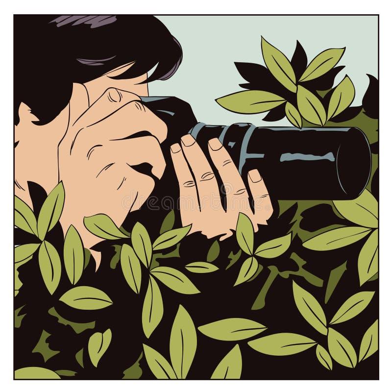 Fotograf pracy Ludzie w komiczka stylu ilustracji