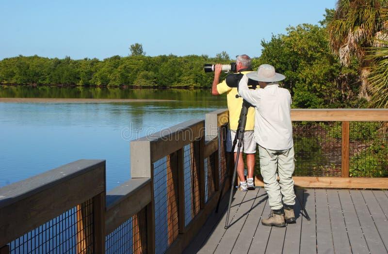 Fotograf przy rezerwatem dzikiej przyrody fotografia royalty free