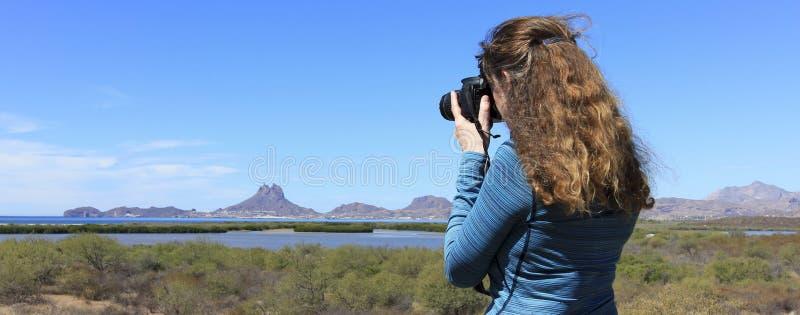 Fotograf Strzela Tetakawi szczytu wydźwignięcie Nad San Carlos obraz stock