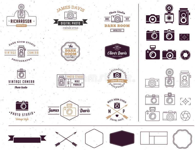 Fotograf- und Fotostudio unterzeichnen, Element, Ikone stock abbildung