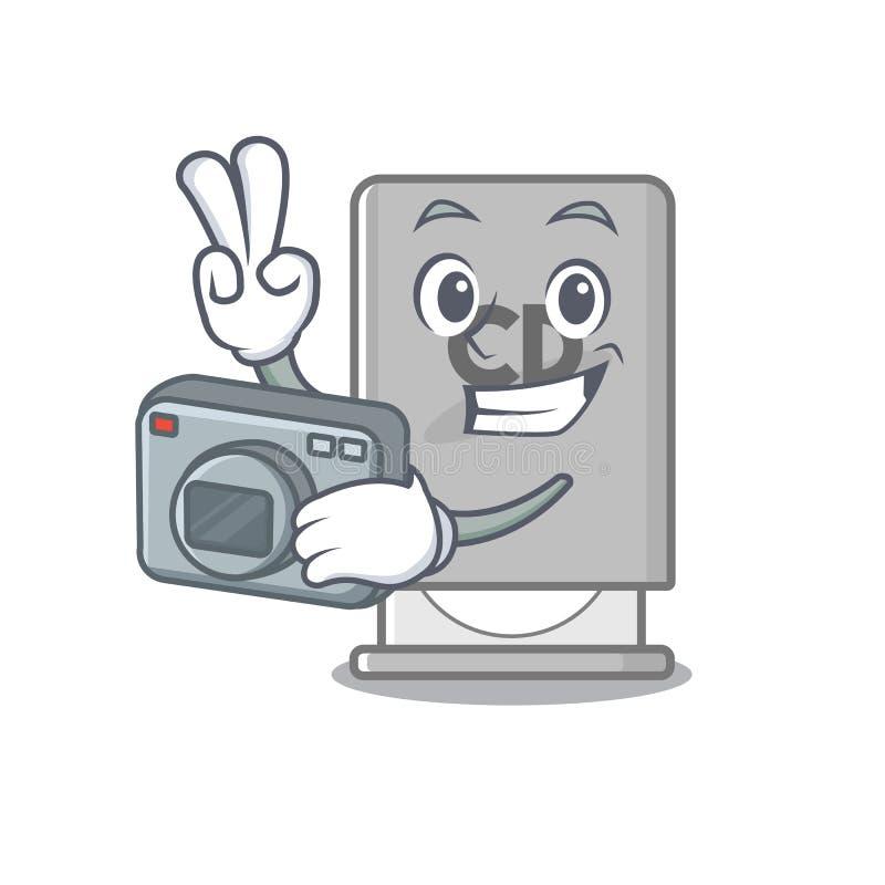 Fotograf vom Laufwerk mit Karikaturenform lizenzfreie abbildung