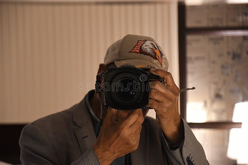 Fotograf w akcjach w duńskim kapitale obraz royalty free