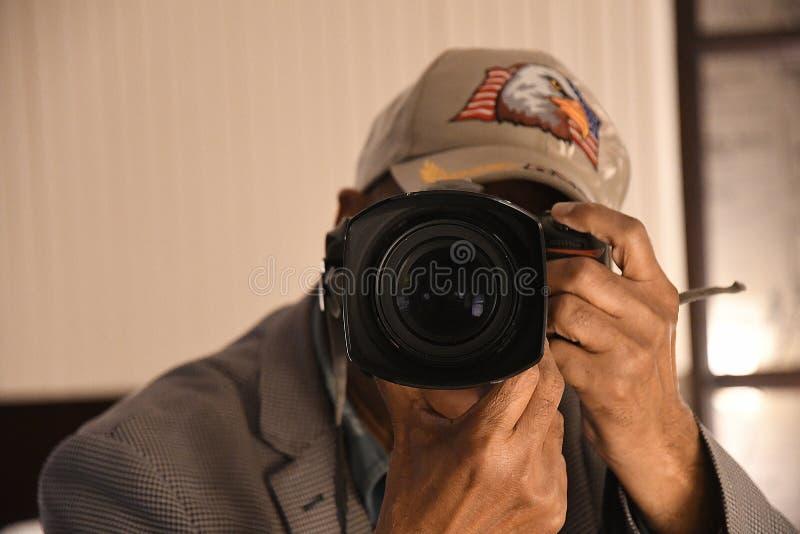 Fotograf w akcjach w duńskim kapitale fotografia royalty free