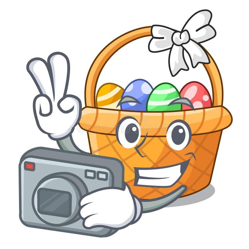Fotografa Easter kosza miniatura kształt maskotka ilustracji