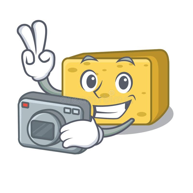 Fotografa gouda ser składa kreskówkę royalty ilustracja